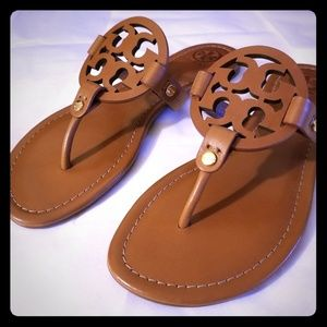 Tory Burch Miller Leather Thong Sandals - NWOB